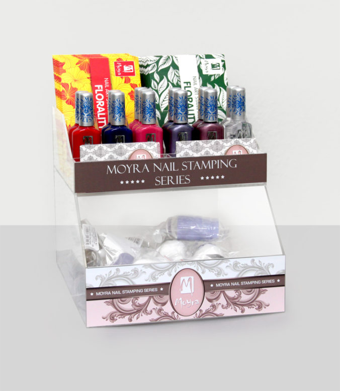 Moyra Nail Stamping Series display
