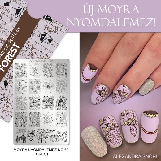 Újdonság: Moyra nyomdalemez No. 69 Forest!