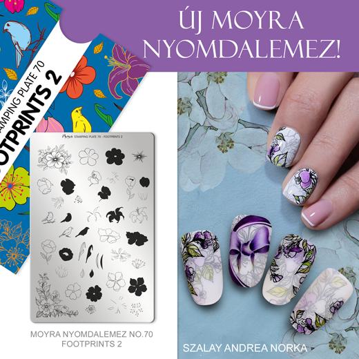 Moyra nyomdalemez No. 70 Footprints 2