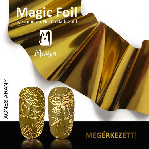 Moyra Magic foil körömfólia No. 05 Darl gold