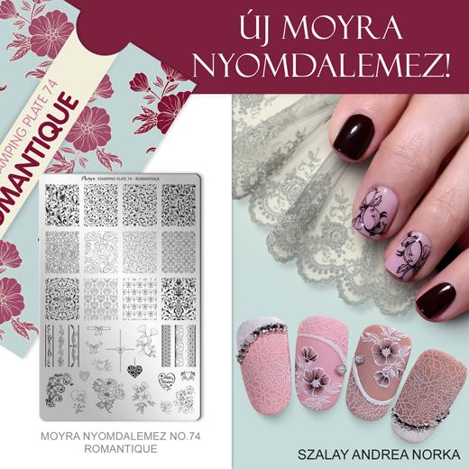 Újdonság: Moyra nyomdalemez No. 74 Romantique!