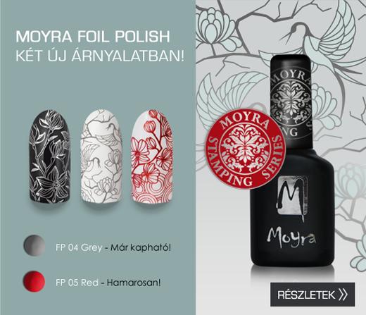 Újdonság: Moyra Foil Polish FP 04, Szürke!