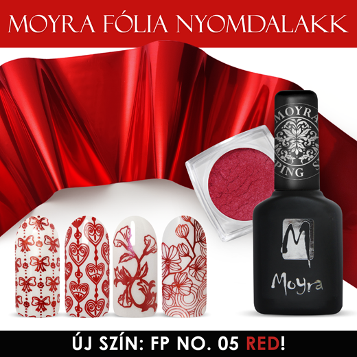 Megérkezett: Moyra Foil Polish FP 05 Red!