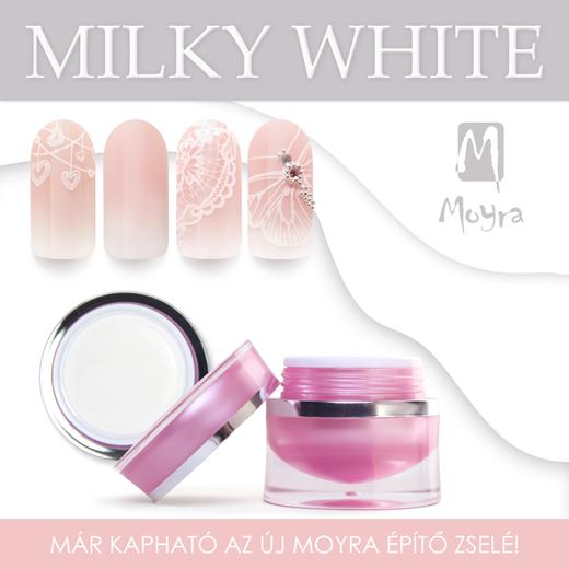 Moyra Milky White építő zselé!