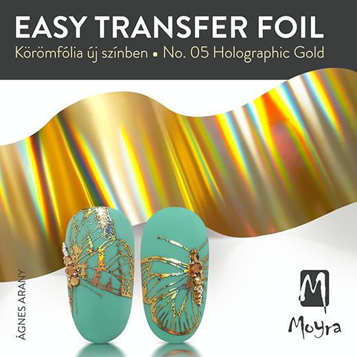 Moyra Easy Foil Körömfólia No. 05 Holograpic Gold