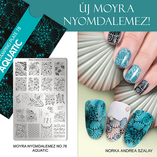 Moyra nyomdalemez No. 78 Aquatic