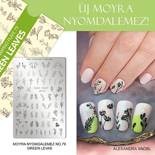 Új Moyra Nyomdalemez: No. 9 Green Leaves