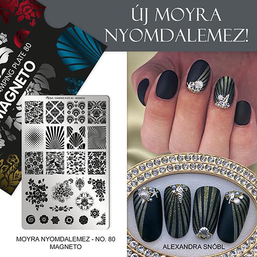 Újdonság: Moyra nyomdalemez No. 80 Magneto