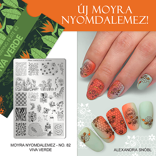 Újdonság: Moyra nyomdalemez No. 82 Viva verde