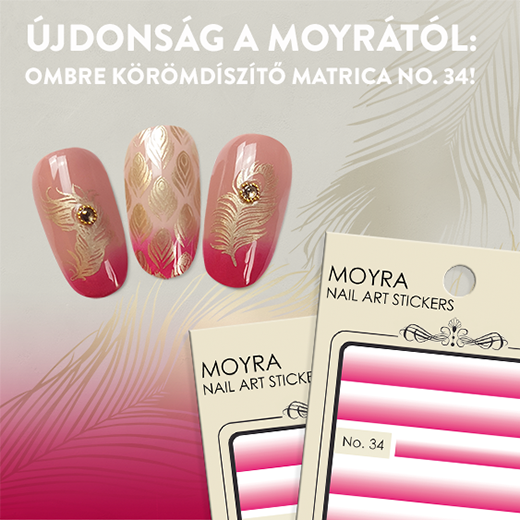 Újdonság: Moyra ombre körömdíszítő matrica No. 34!