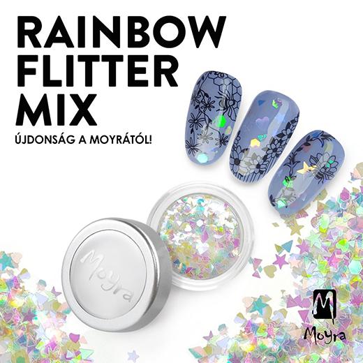 Újdonság a Moyrától: Rainbow flitter mix!