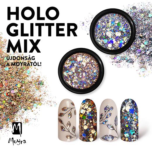 Újdonság a Moyrától: Holo glitter mix!
