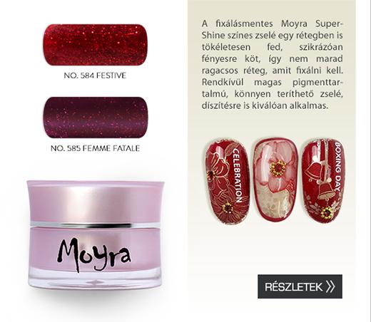 Moyra SuperShine színes zselék 2 új csillámos színben