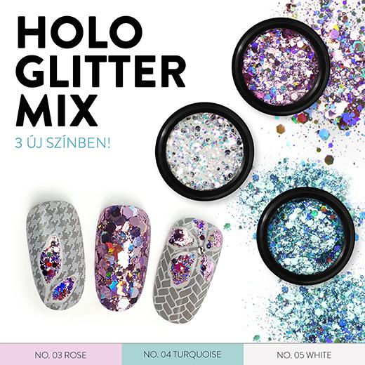 Holo Glitter Mix 3 új színben!