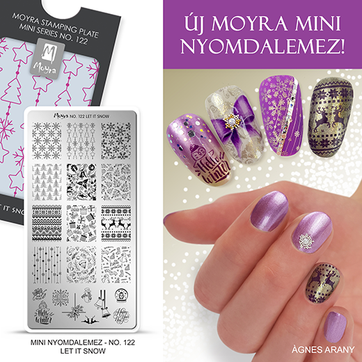 Új Moyra Mini nyomdalemez: No. 122 Let it snow!