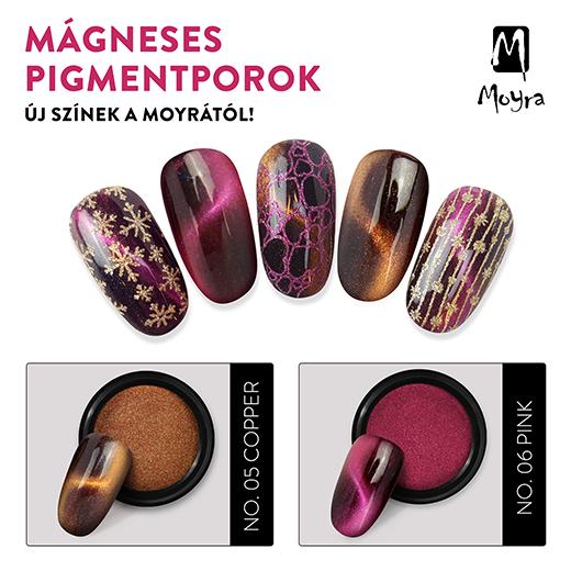 Moyra Mágneses Pigmentporok 2 Új színben!