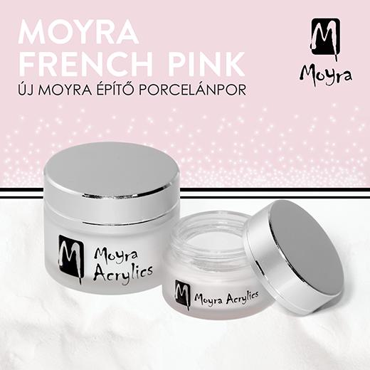 Újdonság! Francia Rózsaszín Moyra építő porcelánpor