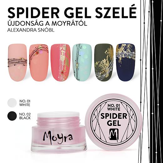 Újdonság! Moyra Spider Gel zselé!