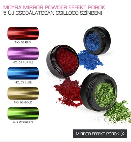 Moyra Mirror Powder effekt porok 5 új, csodálatosan csillogó színben!