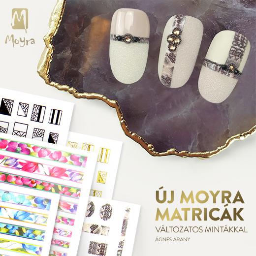 Öntapadós Moyra Matricák 8 különböző, színes változatban!
