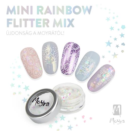 ÚJDONSÁG ÉRKEZETT! Moyra Mini Rainbow Flitter Mix