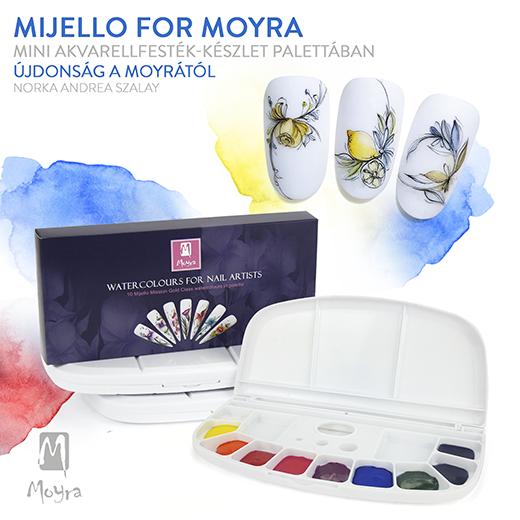 Mijello for Moyra Mini Akvarellfesték-készlet palettában