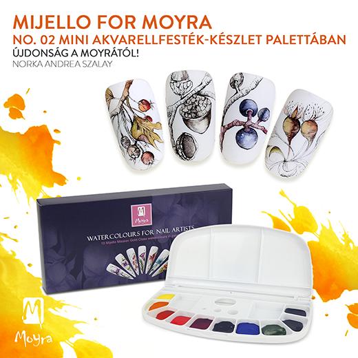 Mijello for Moyra No. 02 Mini akvarellfesték-készlet palettában