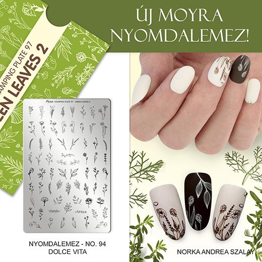 Új Moyra Körömnyomda lemez: No. 97 Green leaves 2!