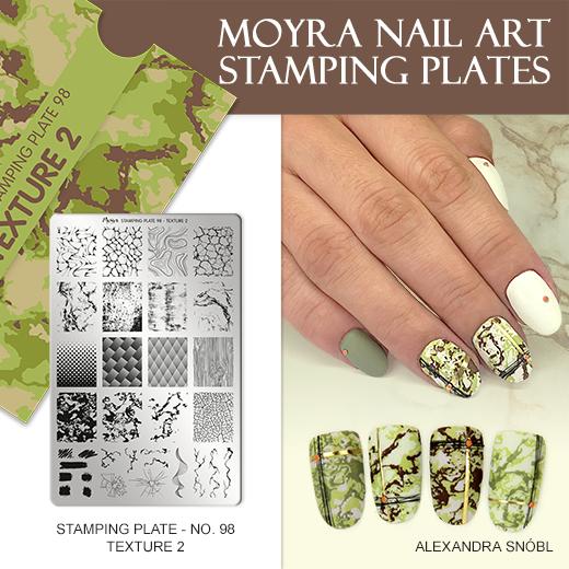 Új Moyra nyomdalemez No. 98 Texture 2
