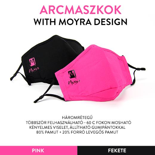 Két színben elérhető, trendi Moyra logós arcmaszkok!