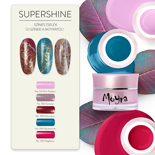 Moyra SuperShine fixálásmentes színes zselék 5 új színben!