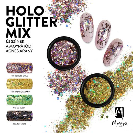 Holo Glitter Mix 4 új színben!
