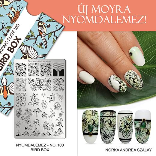 Új Moyra Körömnyomda lemez: No. 100 Bird box!