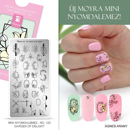 Új Moyra Mini Körömnyomda lemez: No. 124 Shape of my heart!