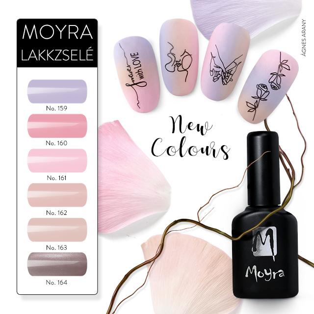 Új színek érkeztek! Moyra Lakkzselé No. 159-164