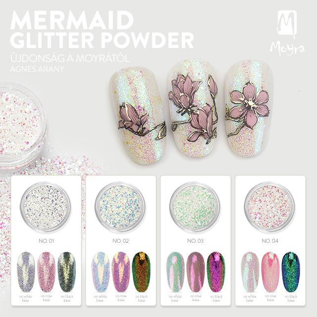 Moyra Mermaid Glitter Powder – No. 01, No. 02, No. 03, No. 04