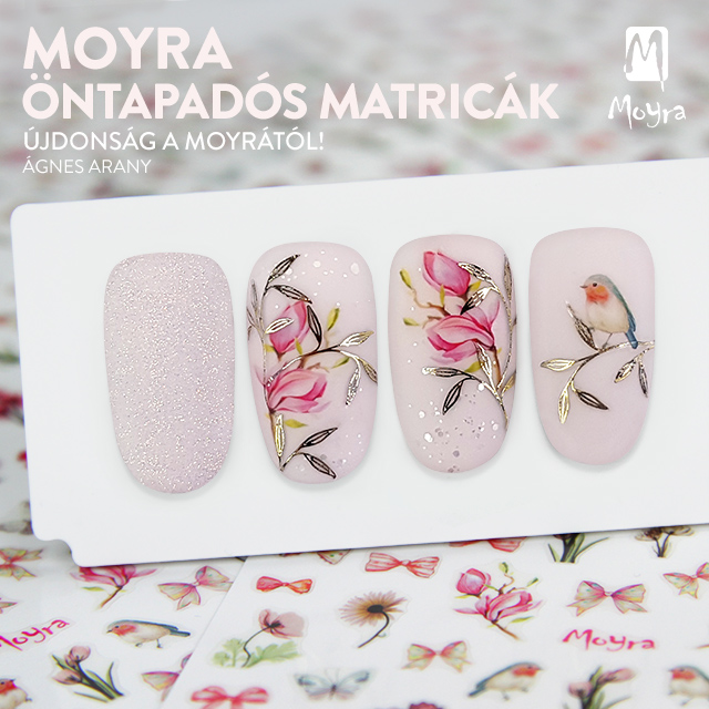 Újdonság! Moyra öntapadós körömmatricák - No. 12, No. 13