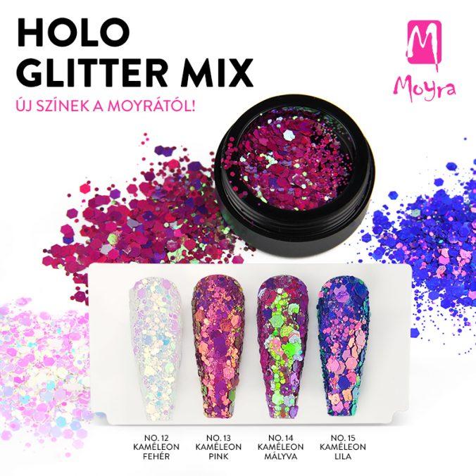 Moyra Holo Glitter Mix - csodálatos kaméleon színekben!